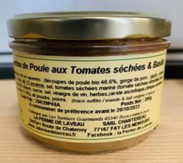 Terrine de Poule Tomates Basilic
