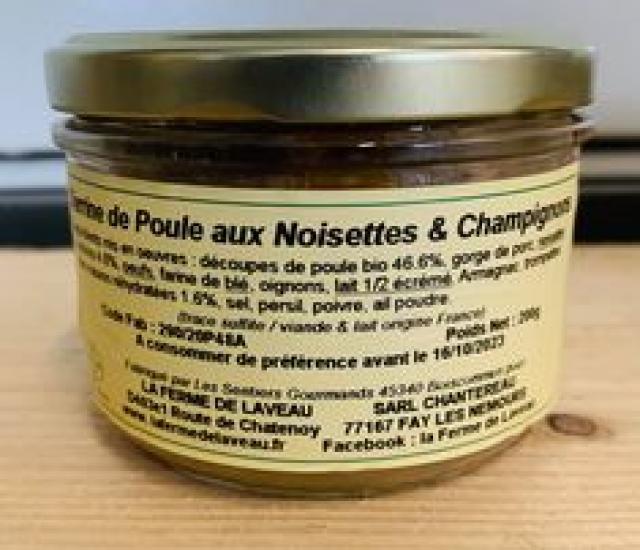 Terrine de Poule Noisettes Champignons