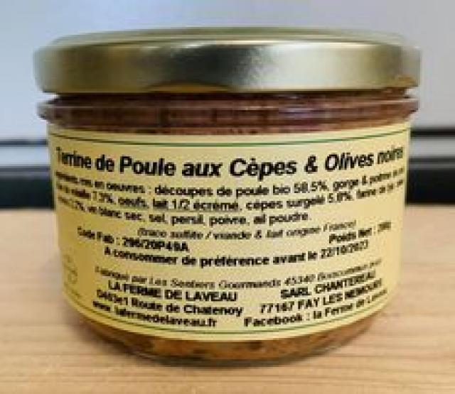 Terrine de Poule Cèpes Olives